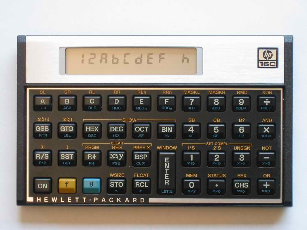 hp 16c rh thimet de HP-16C Calculator USA hewlett packard 16c calculator owner's manual