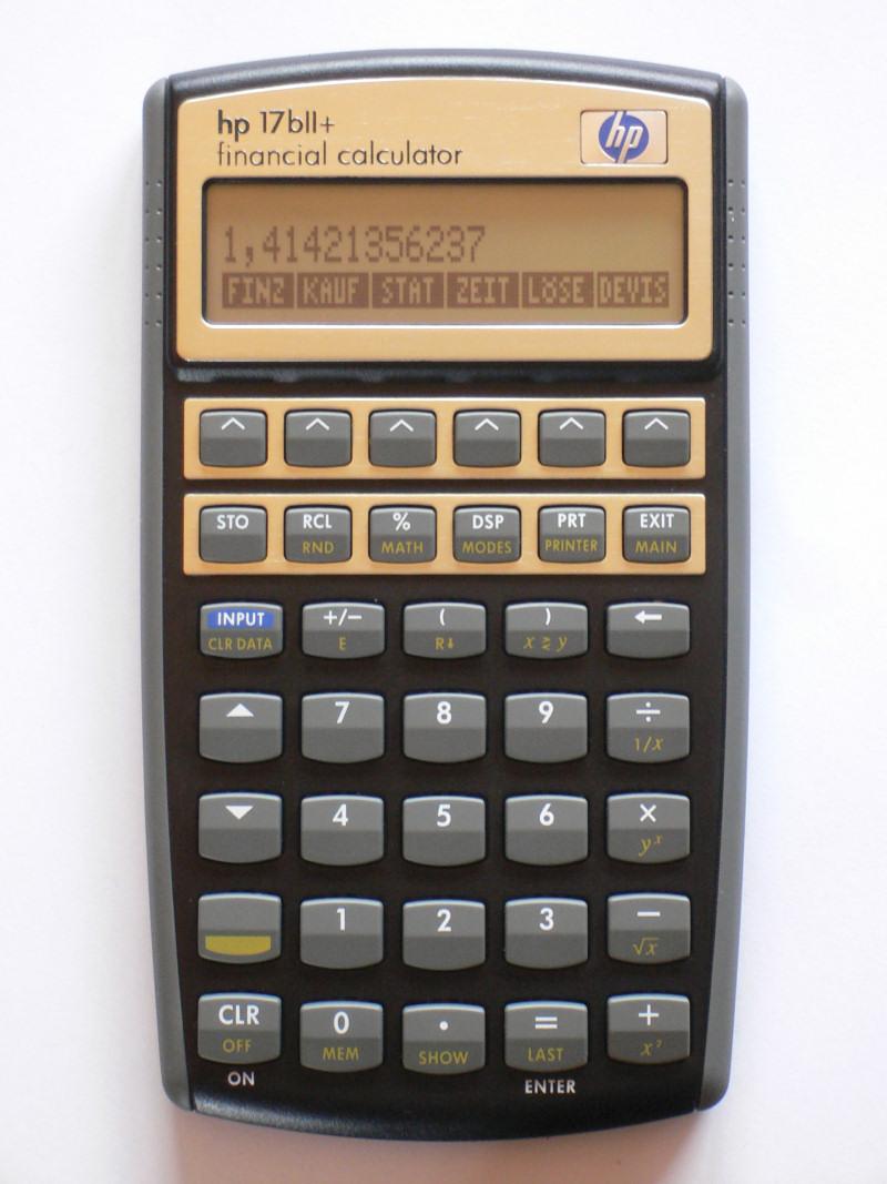 hp 17b 17bii 17b rh thimet de Hewlett-Packard 17Bii Calculator hp 17bii+ financial calculator instructions