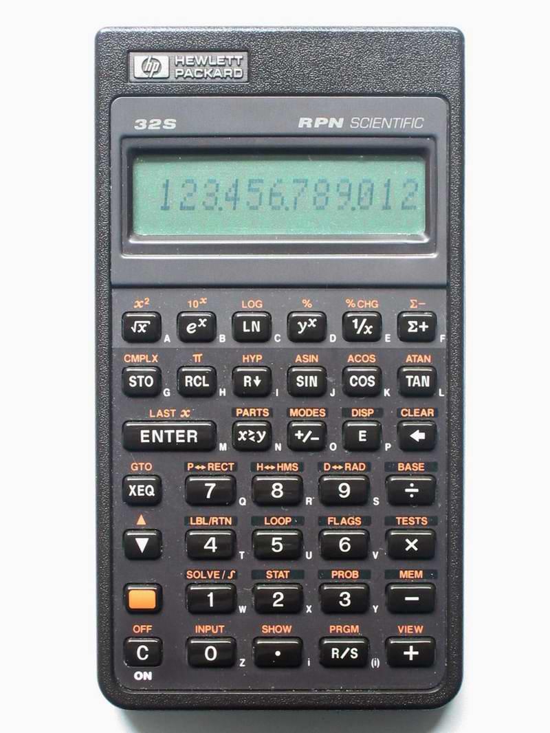 hp 32s sii rh thimet de Hewlett-Packard 10B Business Calculator Hewlett-Packard Scientific Calculators in 1972