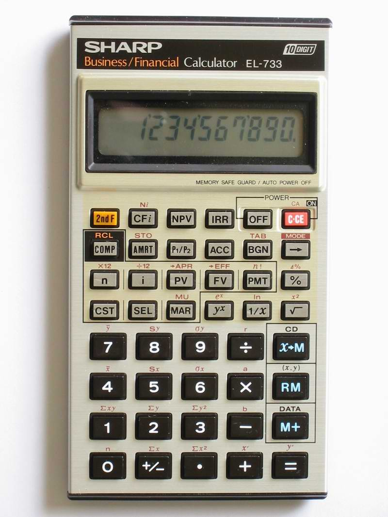 sharp el 733 rh thimet de sharp financial calculator el-733a manual sharp financial calculator el-733a manual