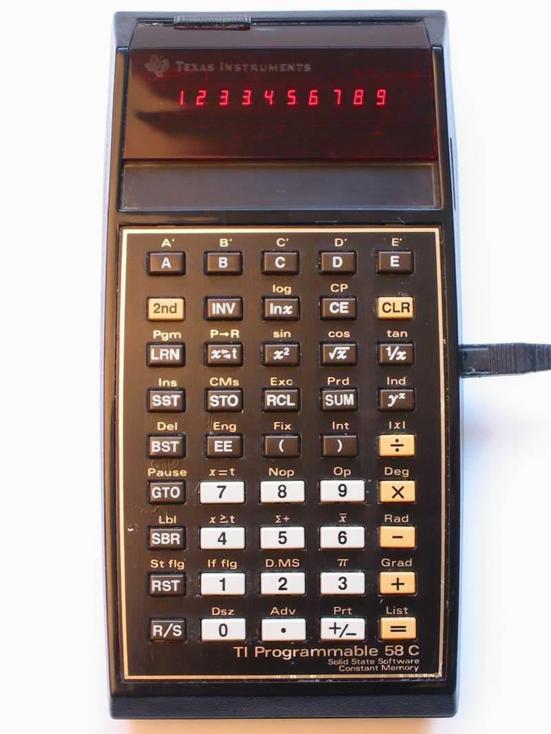 Les premières TI programmables 1/2 TI-58C-M